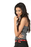 Indian girl in nice face expression Royalty Free Stock Photography