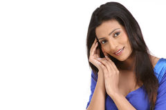 Indian girl in nice face expression Stock Photos