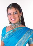 Indian girl with nice jewelery Royalty Free Stock Photography