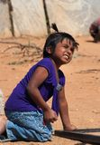 Indian girl playing on the street in Bangalore Stock Photography
