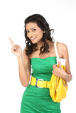 Indian girl pointing her finger Royalty Free Stock Photo