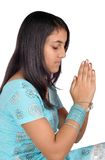 Indian girl prayer to god Royalty Free Stock Image