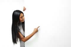 Indian girl presenting Stock Image