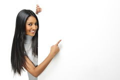 Indian girl presenting Royalty Free Stock Photo