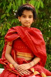 Indian girl in red dress Royalty Free Stock Photos