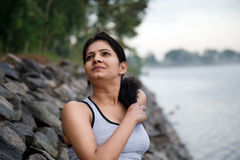 Indian Girl relaxing Royalty Free Stock Photography