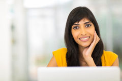 Indian girl relaxing home Royalty Free Stock Photography