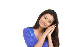 Indian girl in relaxing pose Stock Photos