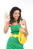 Indian girl saying excellent Royalty Free Stock Images