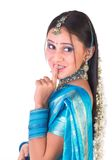 Indian girl saying silent Royalty Free Stock Photography