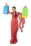 Indian girl shopping Royalty Free Stock Photo