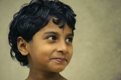 Indian girl with short hair