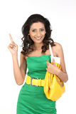 Indian girl showing her finger Royalty Free Stock Image