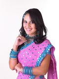 Indian girl with a smiling expression royalty free stock image