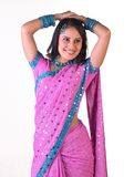 Indian girl in standing posture Stock Images