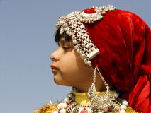 Indian Girl in Traditional dress Royalty Free Stock Photography