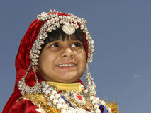 Indian Girl in Traditional dress Stock Photography