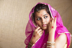 Indian girl in traditional Indian sari Royalty Free Stock Photo