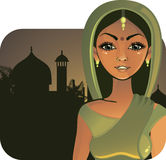 Indian girl (vector) Royalty Free Stock Photo