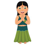 Indian Girl Vector Illustration Royalty Free Stock Photography