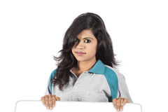 Indian girl on white background Stock Images