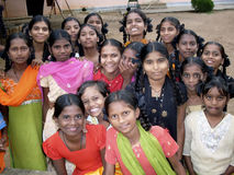 Indian girls. Young indian girls children smiling at the camera Royalty Free Stock Images