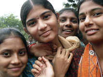 Indian girls. Young indian girls smiling at the camera Royalty Free Stock Photo