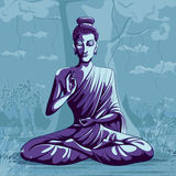 Indian God Buddha in meditation Royalty Free Stock Image