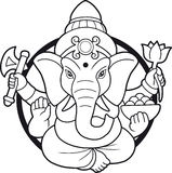 Indian god Ganesha emblem. Emblem depicting an Indian god Ganesha Stock Image