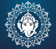 Indian god ganesha, Ganesh idol flat design Royalty Free Stock Images