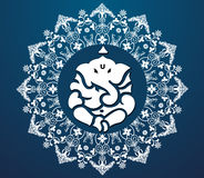 Indian god ganesha, happy ganesh chaturthi card Stock Image