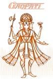 Indian God Ganpati in sketchy look. Vector illustration Stock Image