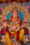 Indian god of prosperity-Lord Ganesh. A beautiful icon of an Indian god of prosperity royalty free stock photo