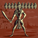Indian God Ravana with sword Royalty Free Stock Photography
