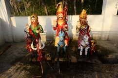 Indian God Statue In Temple Of Himachal Pardesh India