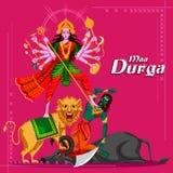 Indian Goddess Durga killing Mahishasura Royalty Free Stock Photo