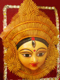 Indian Goddess Face. A face of Indian goddess made out of wheat grains having a third eye Stock Photo