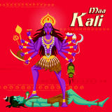 Indian Goddess Kali with Shiva Royalty Free Stock Image