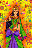 Indian Goddess Lakshmi for Diwali festival celebration in India Stock Image