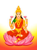 Indian Goddess Lakshmi Royalty Free Stock Images
