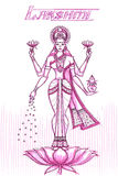 Indian Goddess Lakshmi in sketchy look Royalty Free Stock Photo