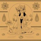 Indian goddess Stock Photo
