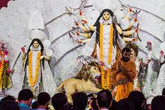 Indian goddess worship, Dussehra festival Stock Images