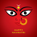 Indian godess durga devi face background stock illustration
