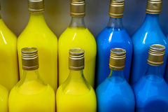 Indian Gola Syrup bottles Stock Images