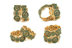 Indian Gold Bangles Set Stock Photos