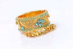 Indian Gold Bracelet Stock Photography