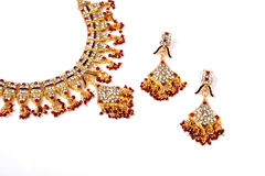 Indian Gold Necklace royalty free stock photo