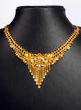 Indian Gold Necklace Royalty Free Stock Images