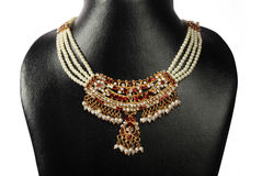 Indian Gold Pearl necklace Stock Image